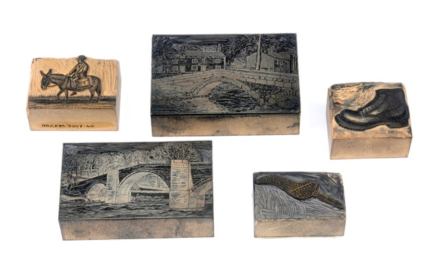 Image of Marie Hartley's wood engraving blocks