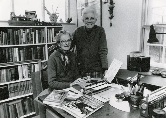 Photograph of Marie and Joan in Study